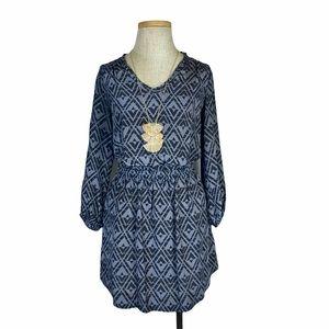 Rebecca Taylor Black-Grey Open Back Dress Silk- 2